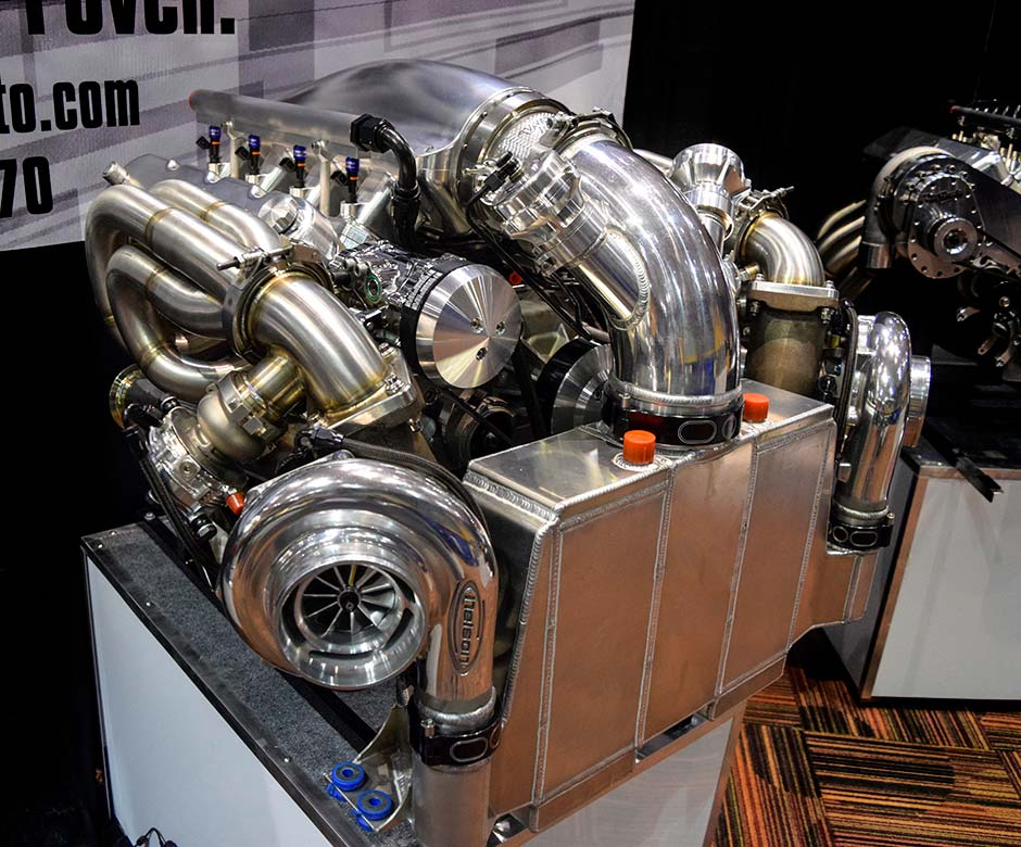454 LSx Twin Turbo Engine